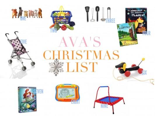 Ava's Christmas List