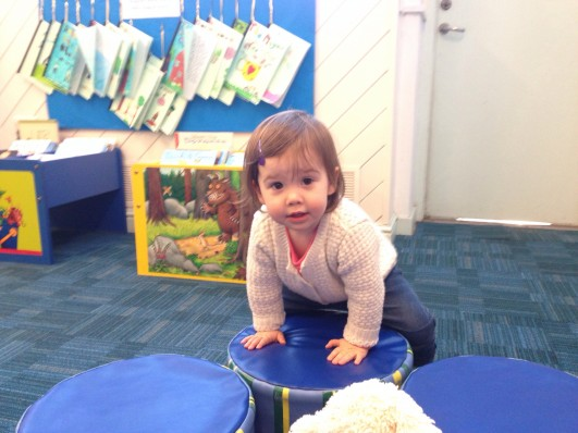 Ava at the library