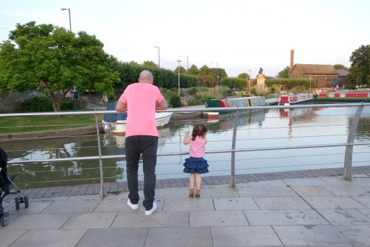 Paul and Ava at the river
