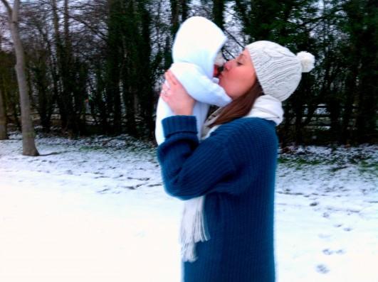 A's first snow