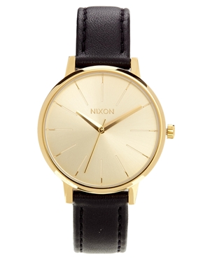 Nixon watch with leather strap