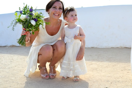 A Flower Girl and a Bridesmaid