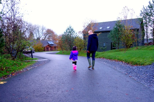 Ava and Daddy taking a stroll through Blusetone National Park Wales