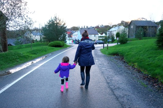 Taking a stroll to The Village at Bluestone Wales