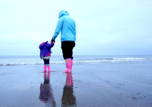Ava and Grandma in Whitby