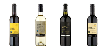 Fairtrade wine bottles