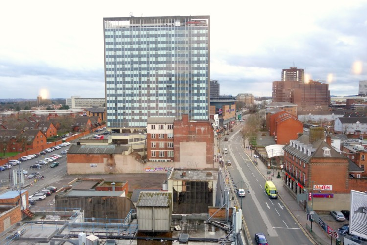 View from Birmingham Central Travelodge