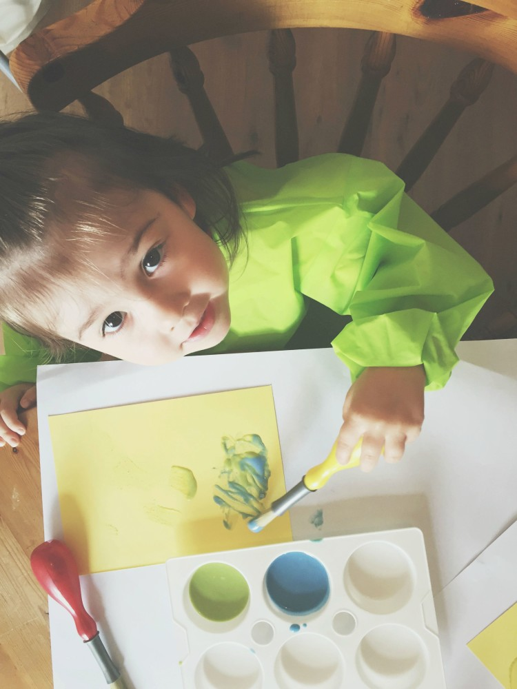 Ava using Puffy Paint