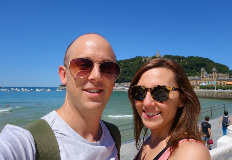 By the beach in San Sebastian