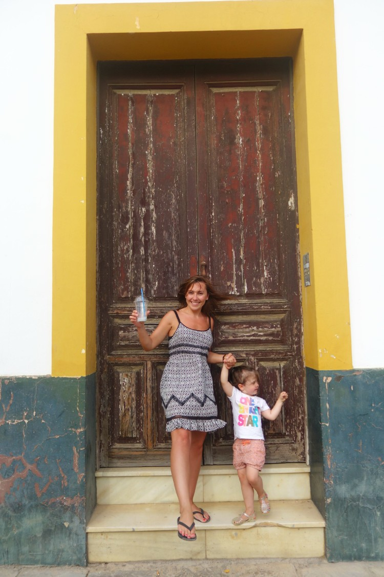 Mummy and Daughter in Seville