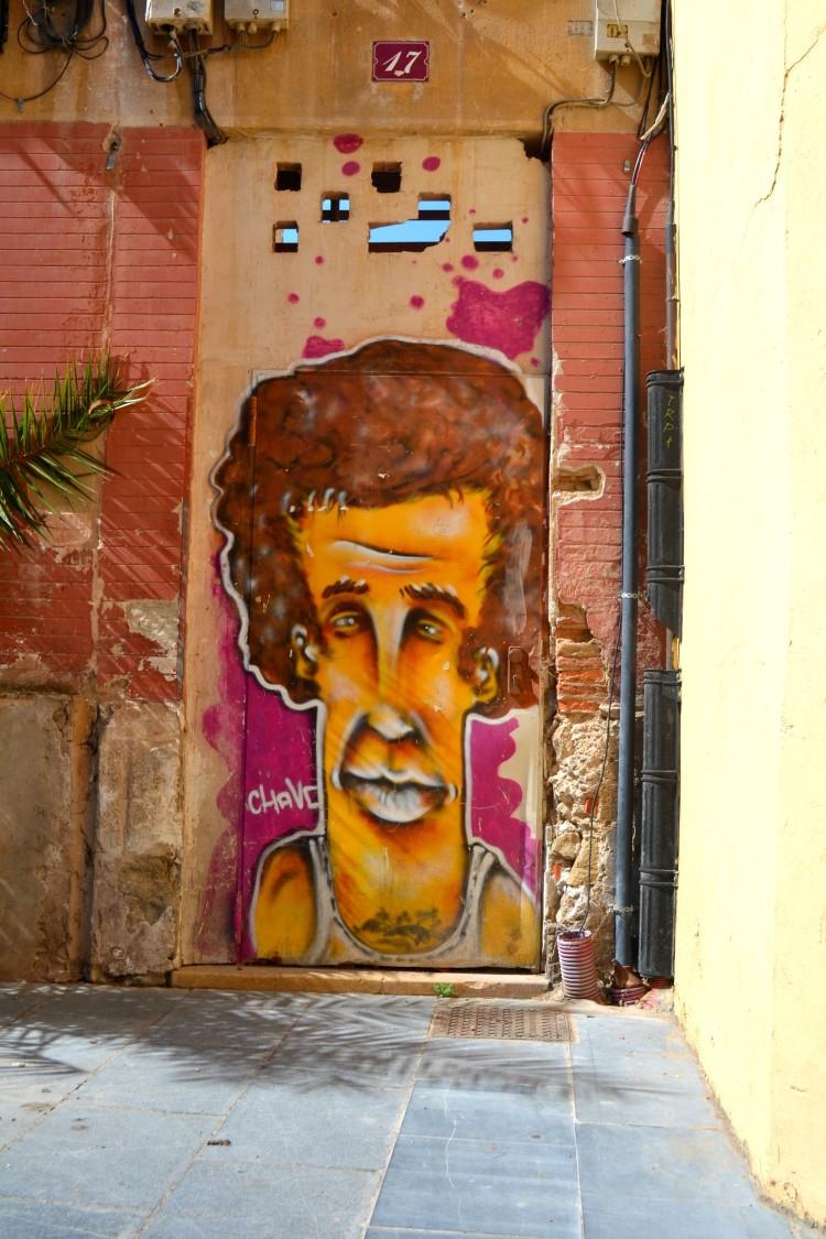 Street art in Logrono, Spain