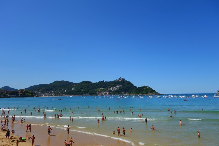 The beach in San Sebastian
