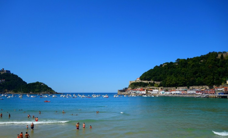 The view from San Sebastian beach