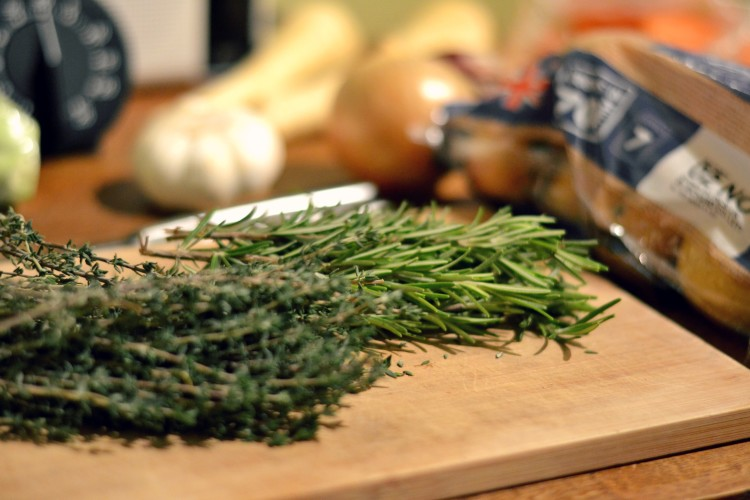 Herbs for roast dinner