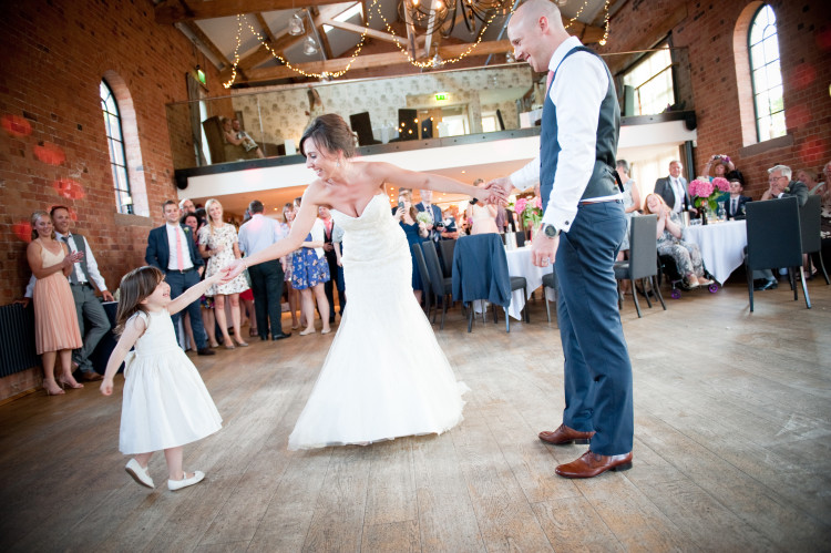 First dance at wedding with daughter