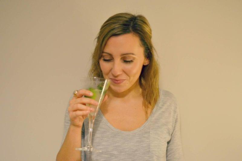 drinking a mojito