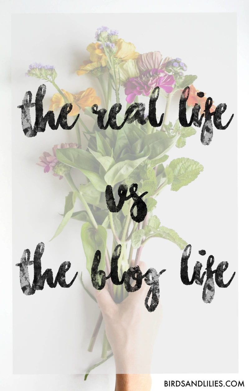 the real life vs the blog life