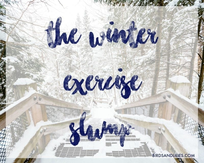 winter exercise slump