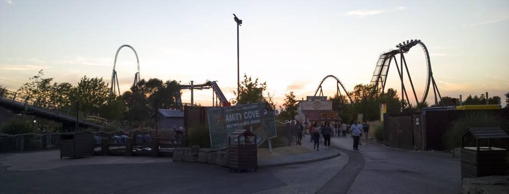 thorpe park sunset