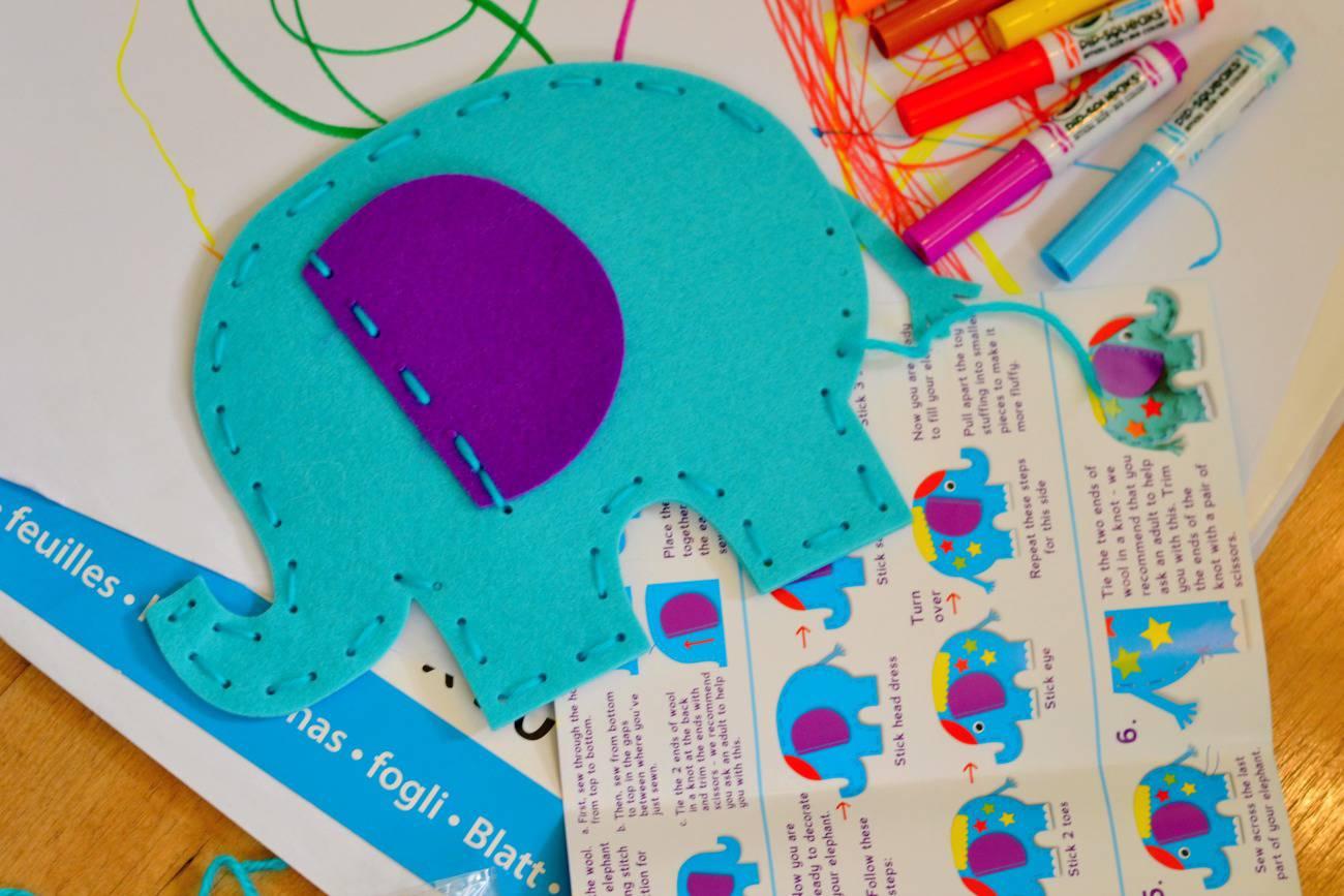 making a craft elephant