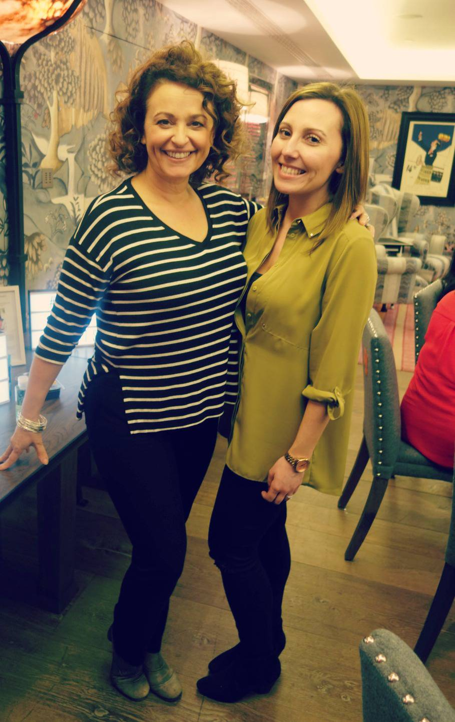 with Nadia Sawalha