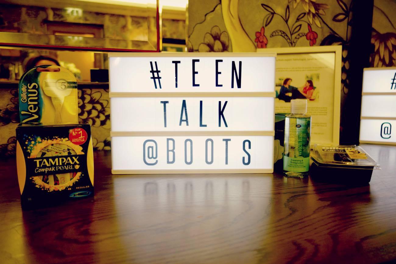 teen talk at boots