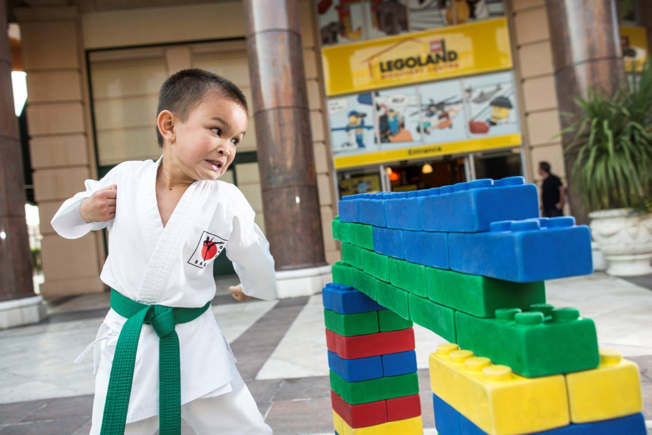 child-from-sale-dojo-using-his-karate-skills-to-launch-ninjago-at-legoland-discovery-centre-manchester