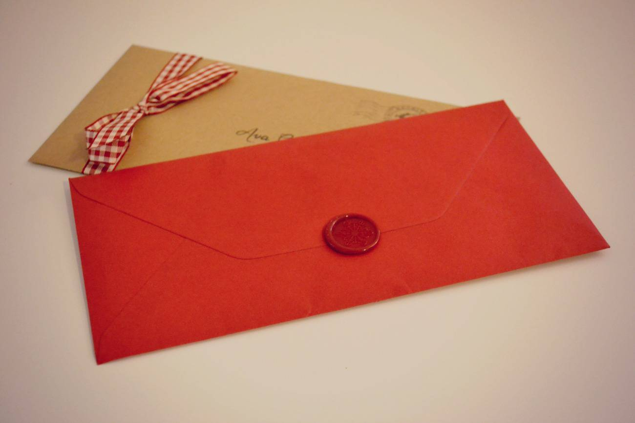 my letter from santa claus review - with wax stamp and hand tied bow