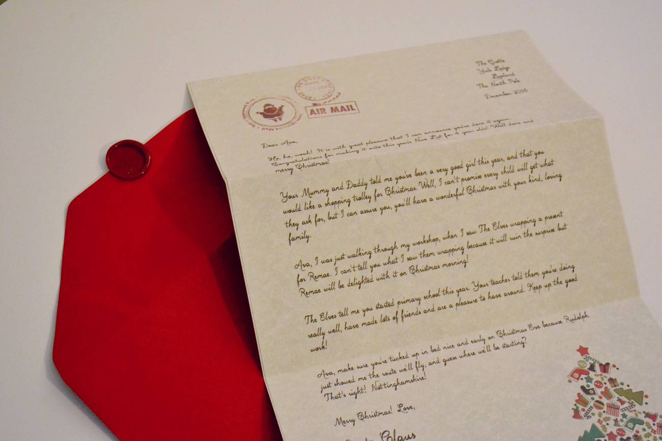 my letter from santa claus review - authentic premium letter with wax sealed envelope