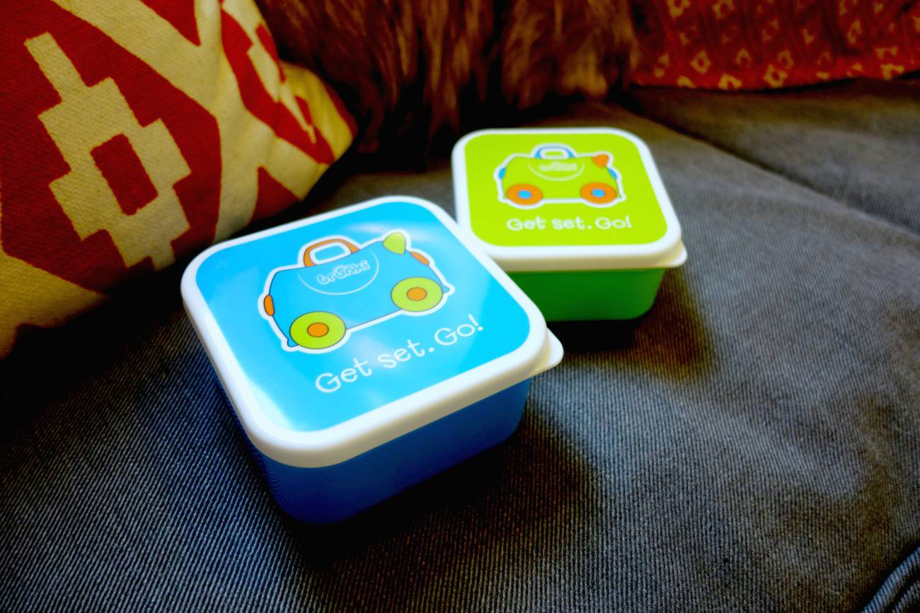 The New Trunki EAT Range - featuring the Terrance snack pots.