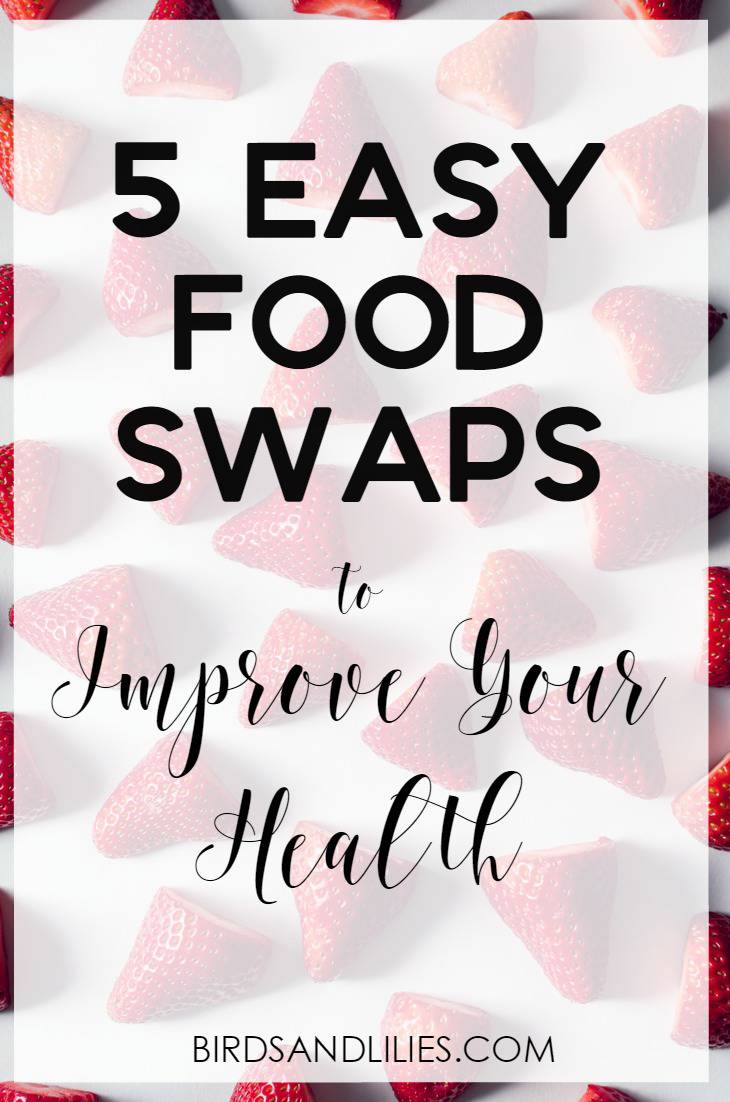 Do you want to be healthier but feel like you don't have the time or energy to make any big changes to your diet? Have a look at these 5 easy little food swaps to improve your health and stop you putting so much crap into your body!