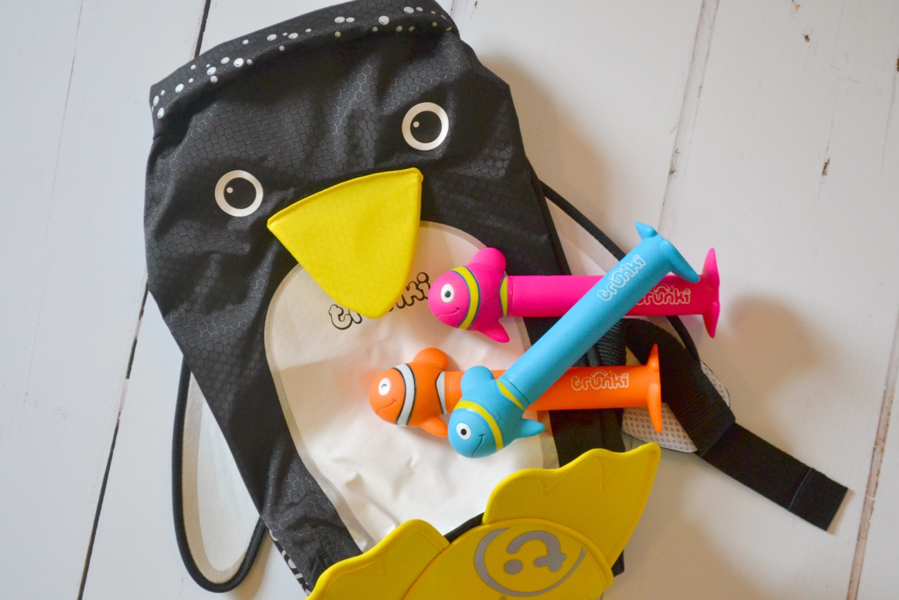 We love the Trunki brand - find out what we thought about the new Trunki dive sticks and the Pippin the Penguin Paddlepak.