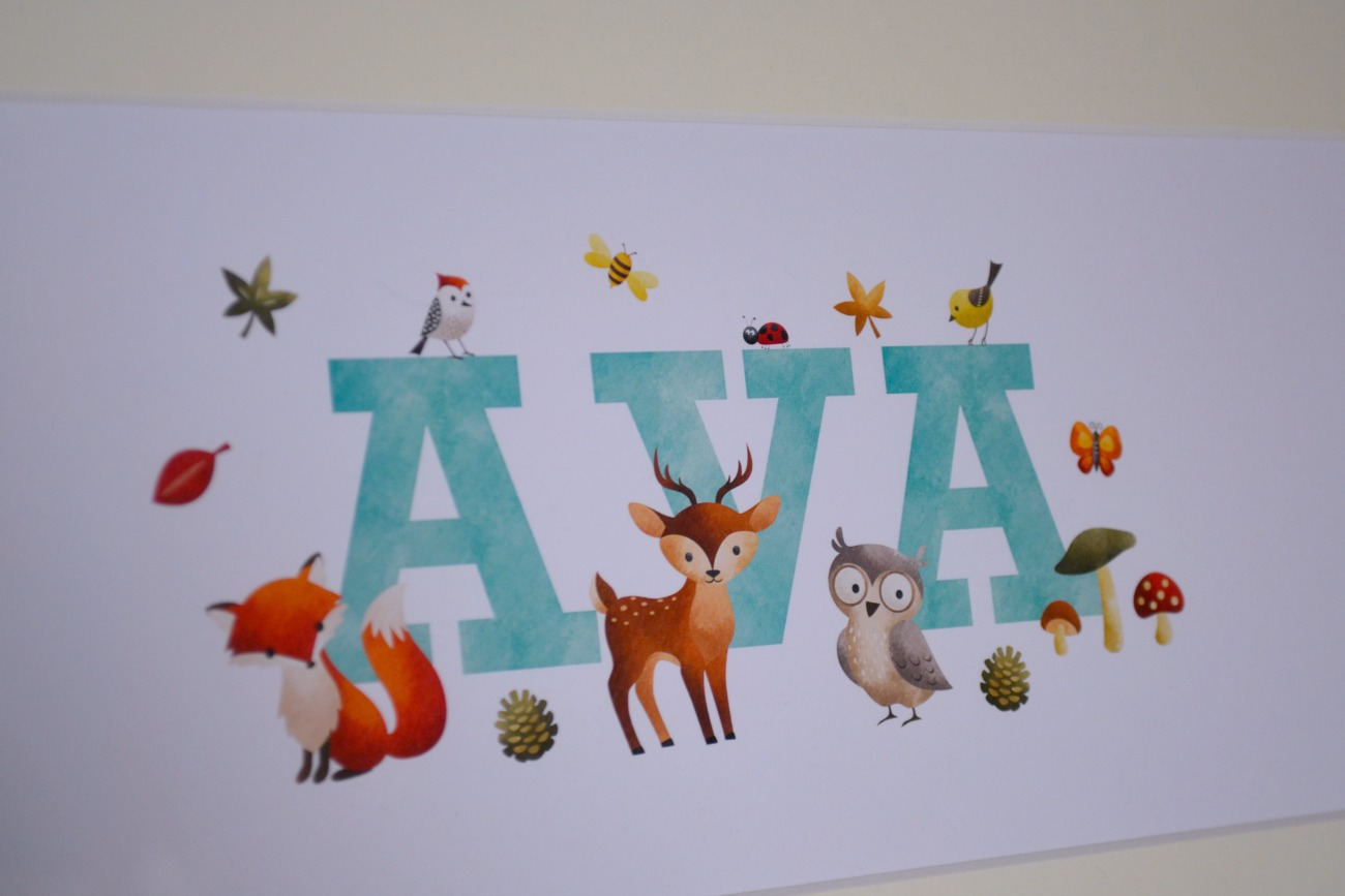 If you are looking for something to put on your child's bedroom or nursery wall, then have a look at these personalised prints from Frame My Name.