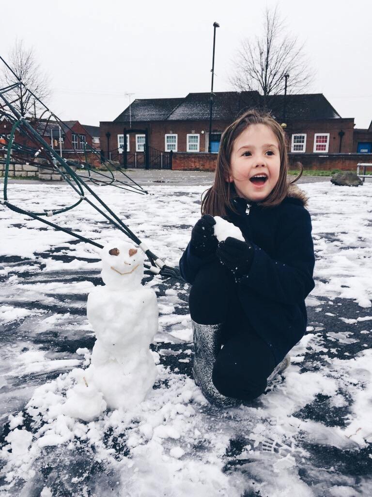 Tiny, Happy Snowman #MySundayPhoto